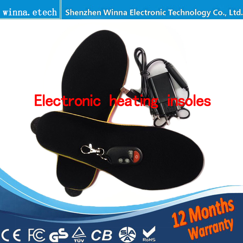 Remote Control heating insoles winter Thick plush insole insert Shoes pad With battery EUR Men's Women's Size Foam Material new electric warm heated insole with remote control winter breathable thick plush insoles shoes boots soles foam material 2000ma