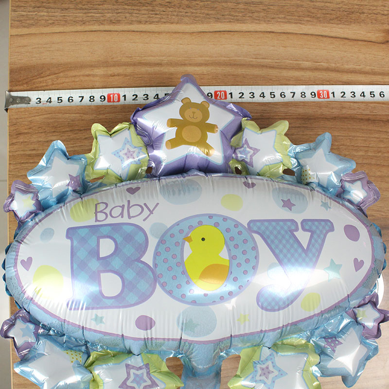 Baby Awning Birthday Foil Balloons 5pcs 16inch Boy Girl Crown Globos Shower Party Supplies Air Ball Kids Toys In Ballons Accessories
