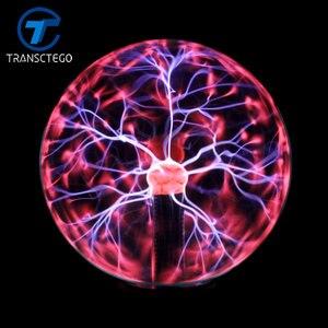 Image 2 - Lampe boule en cristal magique, lampe sphère ionique, éblouissante, carnaval, lampe dambiance pour KTV purification de lair, nouveauté nocturne