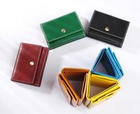 2019 new wallet Japanese handmade leather cowhide short men and women purse palm in the treasured skinned purse