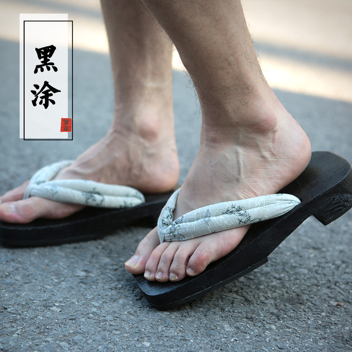 Cosplay 3 Geta Banco 5 2017 Talón Zapatos Madera Sandalias Del 1 Plano 7 Mens 2 Japonés 4 Zuecos 6 De 8 Zapatillas Verano Chanclas IzPUwz