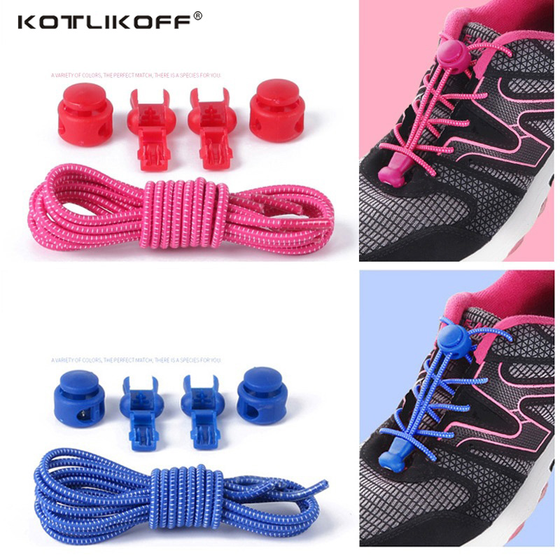 1 pair Locking no tie lazy shoeLaces sneaker elastic Shoelaces children safe elastic shoe lace cordones Shoe accessories darseel shoe accessories shoelaces hbf