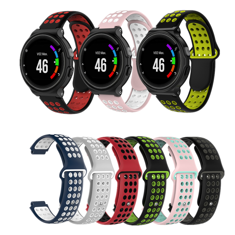 Silicone Watchband Watch Strap For Garmin Forerunner 220 230 235 630 620 735 Approach S20 S6 S5 GPS Sport Smartwatch Accessories