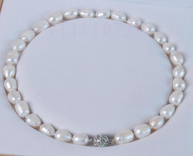 "Hot sell -@@@ Hot sale new Style >>>>>11-12MM WHITE NATURAL TAHITIAN PEARL NECKLACE 17"" AAA -Top quality free shipping"
