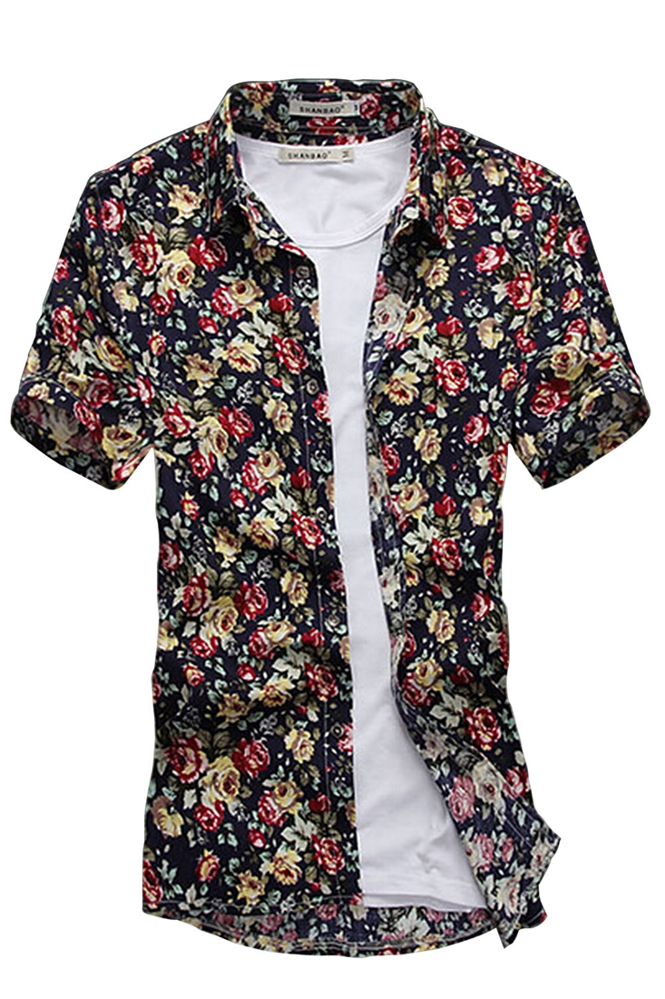 Compare Prices on Pattern Mens Button Down Shirt- Online Shopping ...