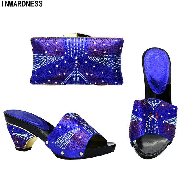 caa3b39d3fc4d Son Tasarım İtalyan ayakkabı ve çanta Seti Envio Gratis Afrika Düğün İtalyan  Ayakkabı ve Çanta Setleri