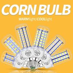 E27 Corn Bulb 220V Bombilla Vela LED E14 Bulb GU10 LED Lamp B22 24 36 48 56 69 72 LEDs Light For Home 5730 Chandelier Lighting