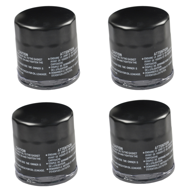 4 Pcs Motorcycle Oil Filter For CB400 CB 400 CB500 CB 500 CBR600 CBR 600 F GL1500 GL 1500 VFR750 VT1100 ZX-9R ZZR600 YZF R1 R6