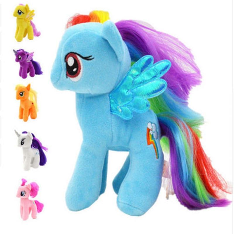 DIWEINI 18cm Rainbow Magic ponies Plush Toys Plush Toy Poni Unicorn Doll Toys for kid gift