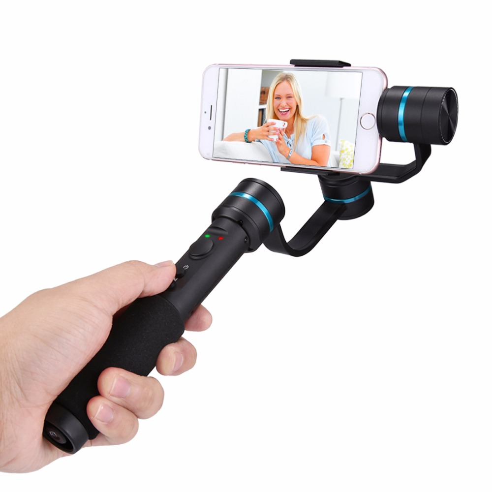 PULUZ G1 3-Axis Handheld Selfie <font><b>Phone</b></font> Gimbal Steadicam Stabilizer <font><b>Clamp</b></font> Mount for Smartphones for Gopro Multi-functional Steady