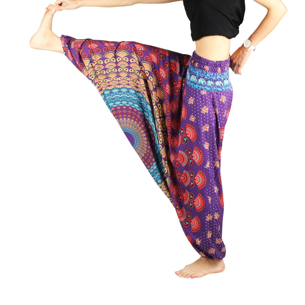 Indian Cotton Flax Harem Pants Women Indonesia Vacation