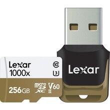 Chaud!!! 1000X150 mo/s Lexar 256GB 128GB 64GB 32GB Micro SD SDHC SDXC carte U3 TF carte v60 150 mo/s C10 carte mémoire avec lecteur de carte