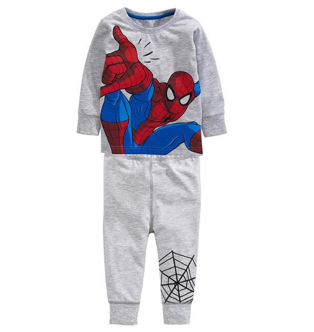 6sets/lot toddler girls clothing sets spiderman long sleeve pajamas (t shirt+pants) baby kids set 1-6T sylvia 554501705816