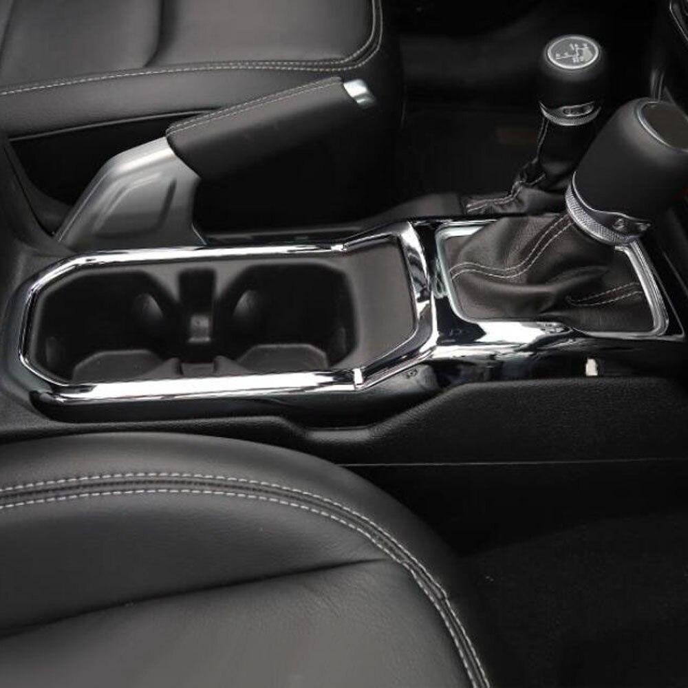 Console gear penale della tazza della copertura holder storage box adesivo decorativo trim Per jeep wrangler Accessori Interni JL - 4