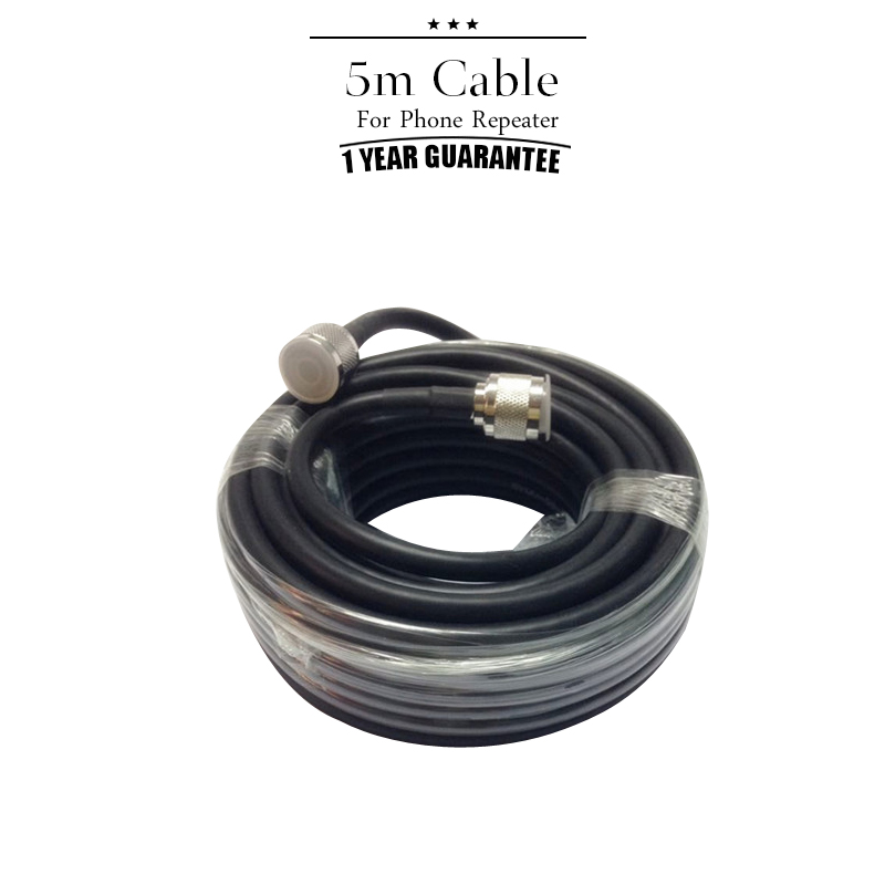 5 Meters Coaxial Cable N Male To N Male For Mobile Phone Signal Booster Repeater Amplifier 2G 4G 3G#43