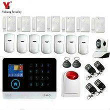 YoBang Security Wireless WIFI 3G WCDMA/CDMA Intruder Burglar Alarm Home Office Security Alert System Door And Window Sensor.