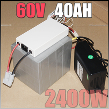 60V 40Ah LiFePO4 Battery Pack ,2400W Electric Bicycle Battery + BMS Charger 60v lithium scooter electric bike battery pack