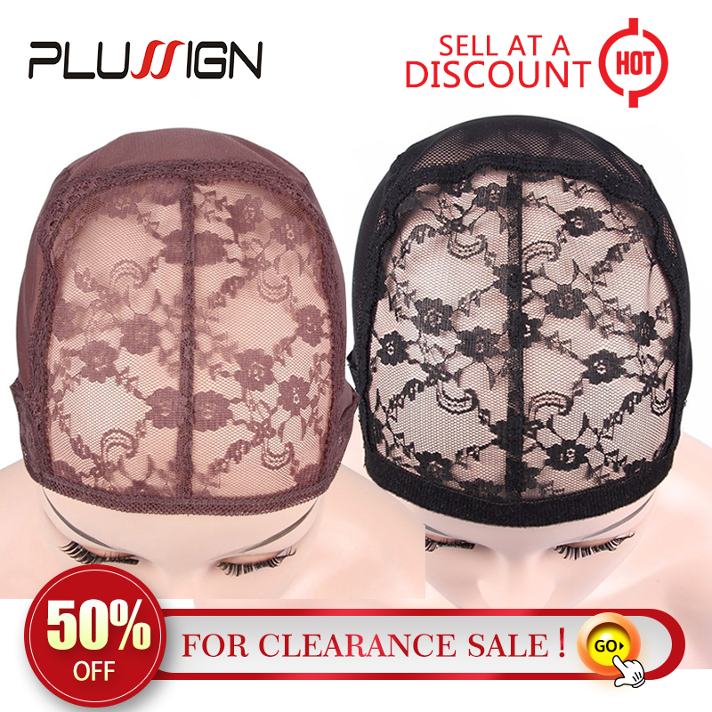 Plussign Adjustable Wig Cap For Making Wigs Lace Net Cap Black Brown 1pcs Wholesale Clearance Sale Wig Making Tools Wave Cap