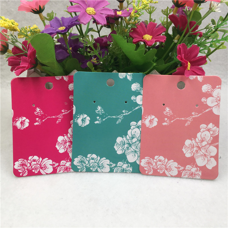 New Product Flower Earring Card Cardboard Jewelry Packing Hang Cards DIY Jewelry Ornament Display 8*6cm 50Pcs/Lot Hot Sale