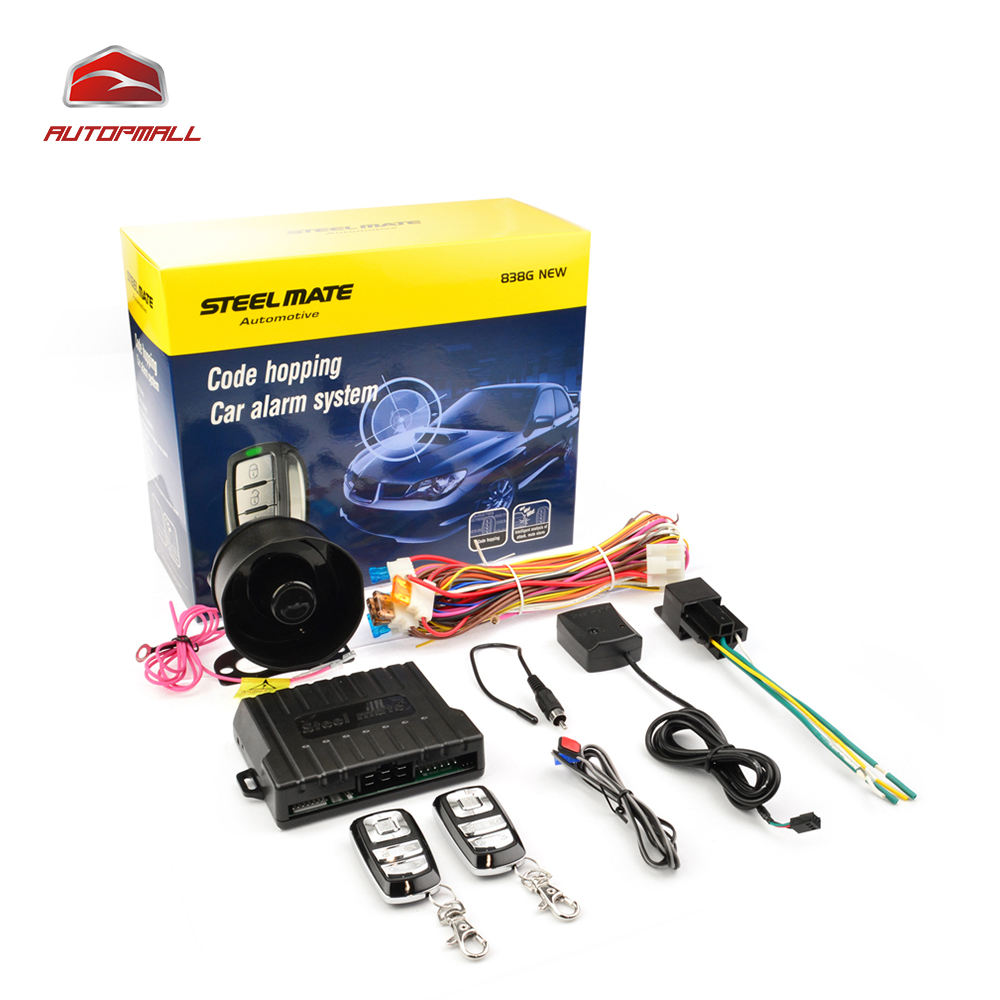 Car Alarm System Steelmate 838G Code Hopping Waterproof