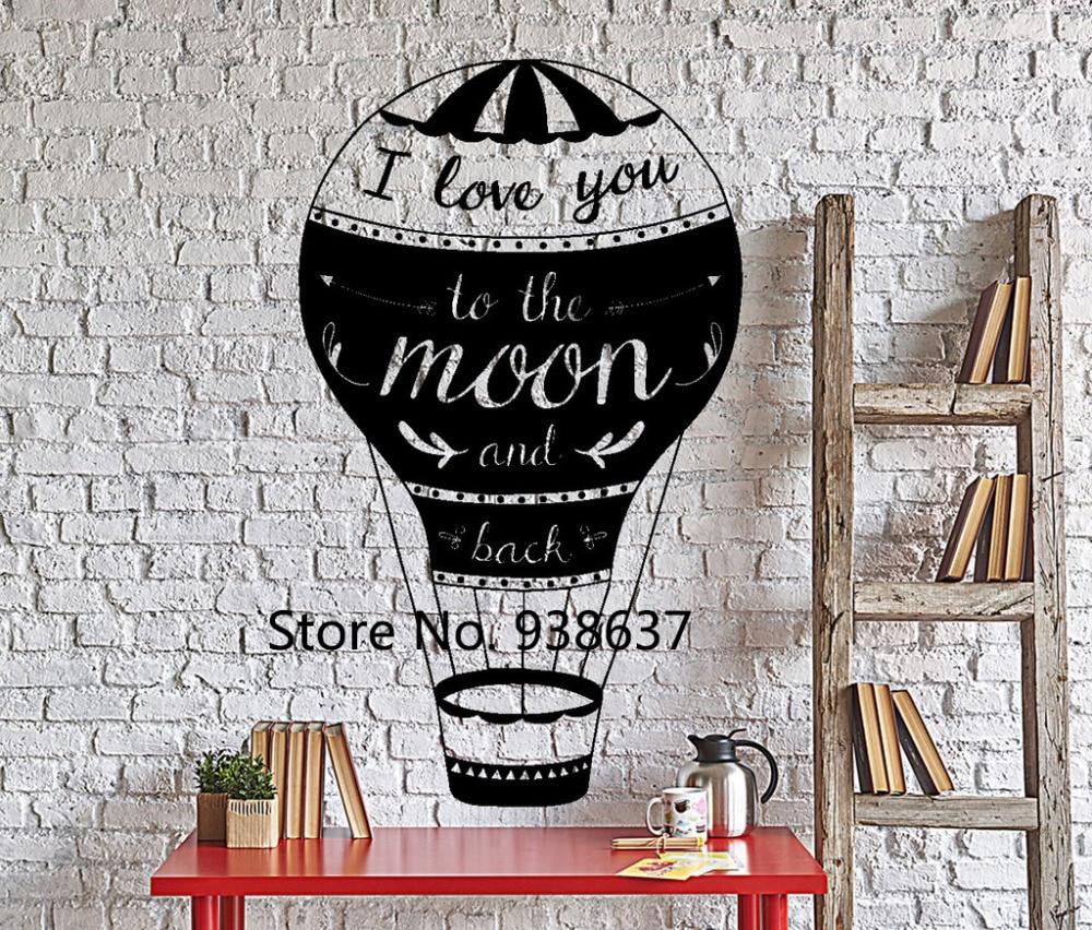 Love Quotes Sticker Je T\'aime À La Lune Et Retour accueil Sticker ...