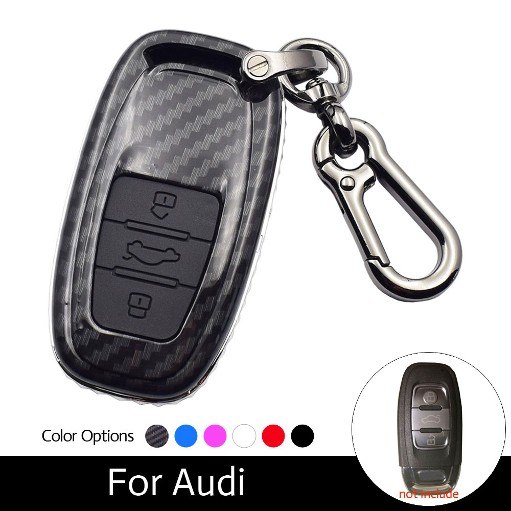 ATOBABI Carbon Fiber Style Car Key Case Smart Remote Fob