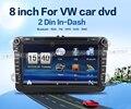 2 din 8 дюймов Автомобиля DVD GPS плеер Для Volkswagen VW Skoda POLO PASSAT CC JETTA TIGUAN TOURAN Бора Touareg GOLF 5 6 4 Fabia Superb