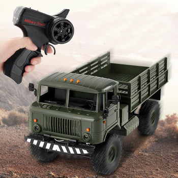 2.4G Remote Control Toy Car 1:16 Military Truck Toy Car Four-Wheel Drive Climbing Remote Control Off-Road Vehicle Truck Model RC