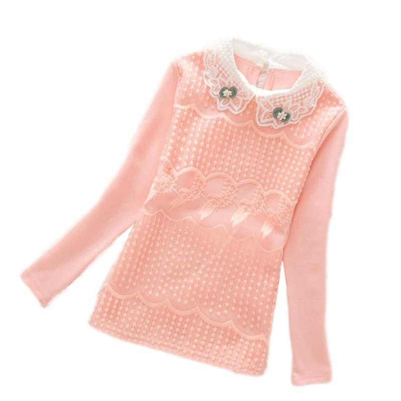 3-13T Schulmädchen Bluse Hemden für Mädchen Mädchen Bluse Kinder Kleidung für Jugendliche Soild Korean Backing Shirt mit Blumen