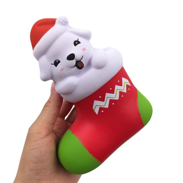High Quality Cute Christmas Boots Santa Clause Sock Dog