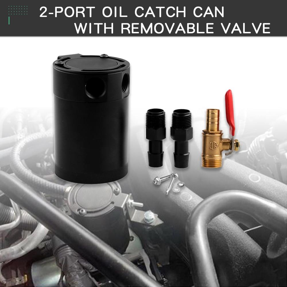 Image 5 - RYANSTAR 2 порта маслоуловитель БАК топливный бак гоночный озадаченный с дренажным клапаном 150 мл воздушный масляный сепаратор Универсальный черный анодированный-in Топливные баки from Автомобили и мотоциклы