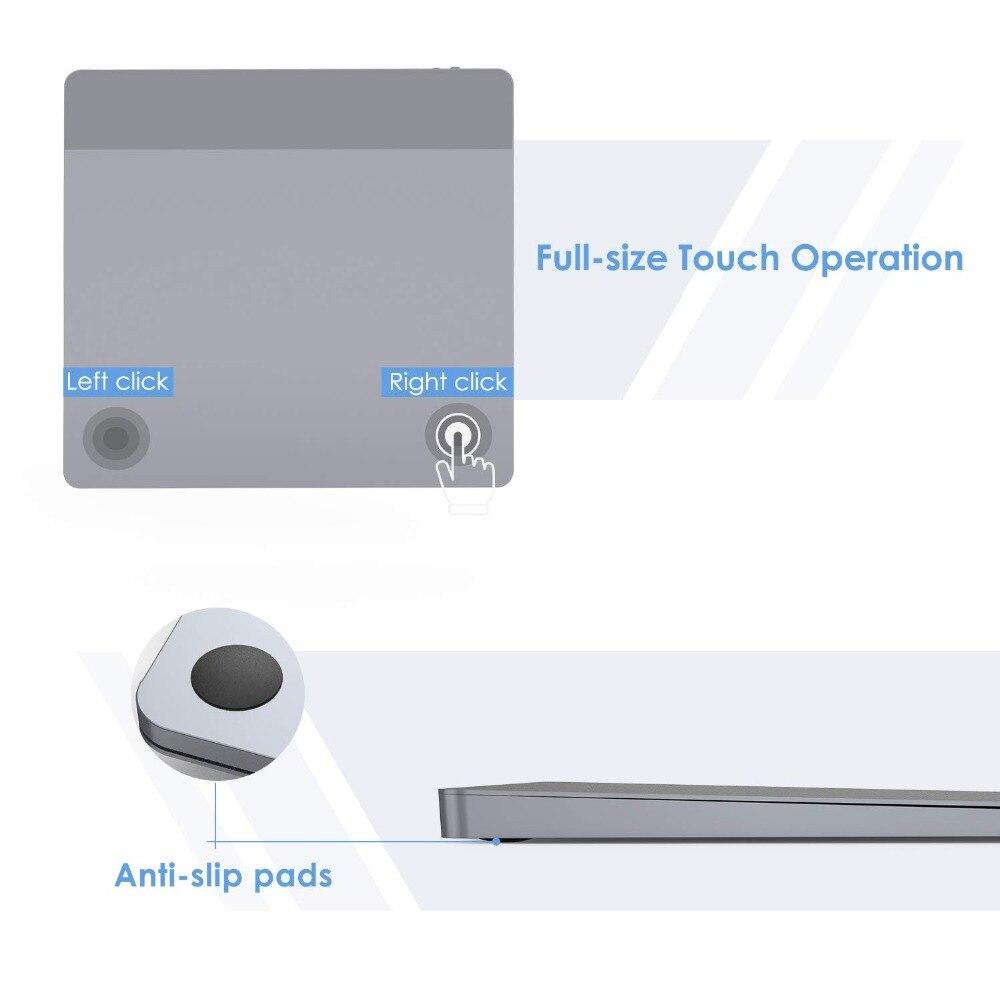 Pavé tactile sans fil Rechargeable de peigne de gelée avec le récepteur Nano pavé tactile sans fil pour le PC portable tablette tactile d'usb pour Windows 10 Mac OS - 2