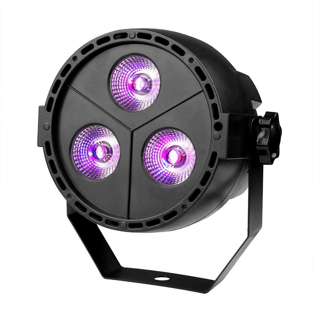 TSSS Par Wedding Up lighting 11W 8CH Sound Activated DMX512 RGBP DJ Wash Par Can Led Stage Lights for Birthday Home Party Church