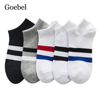 Goebel Cotton Socks Summer Male Casual Shallow Mouth Men Boat Socks Two bars Fashion Man Short Socks 5pair/lot