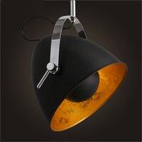 تعاقدت الحديثة أضواء قلادة الحديد المطاوع قلادة شخصية خمر فانوس مصباح شريط مطعم آرت ديكو مصباح الإضاءة