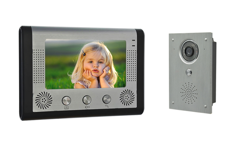 7 Inch Monitor Wired Intercom IR Night Vision Video Door Phone