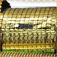 Free Shipping Gold Square Plastic Rhinestone Mesh Trimming Sewing Mesh 5yards Lot 12rows Trimming Wedding Dress