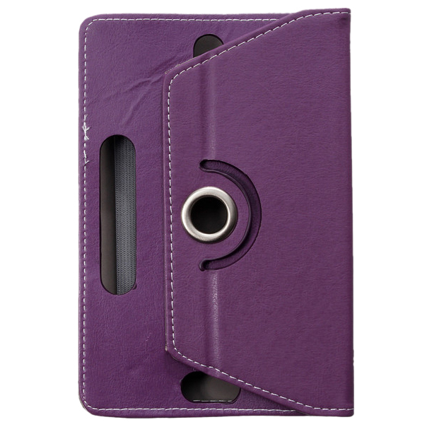 Universal Grip 360 degree Rotating PU Leather Case Cover Stand For 10/10.1 Android Table PC MID PAD, purple