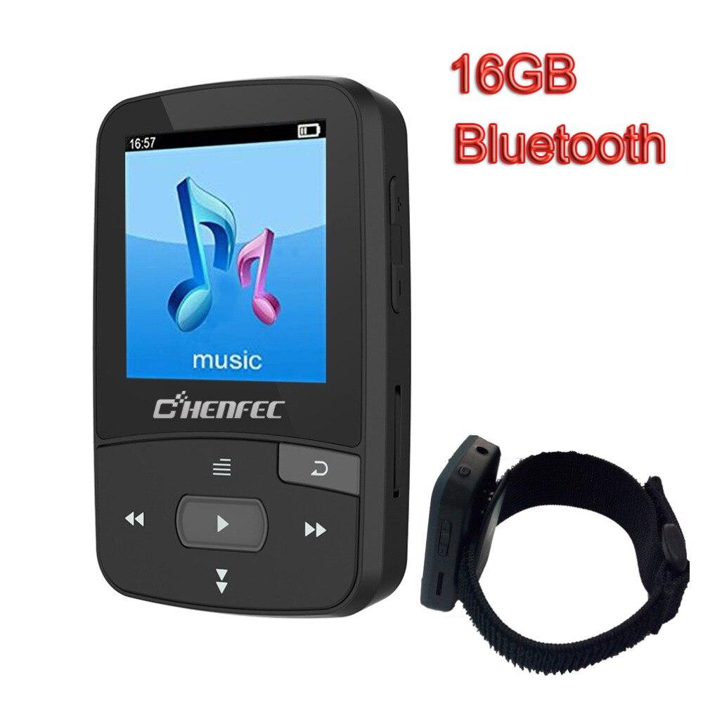 Nouveau Arrivé Lecteur MP3 16 GB avec Bluetooth Lecteur de Musique et Clip Sport MP3 Lecteur de Musique AJ2127 puce Pedo Mètres