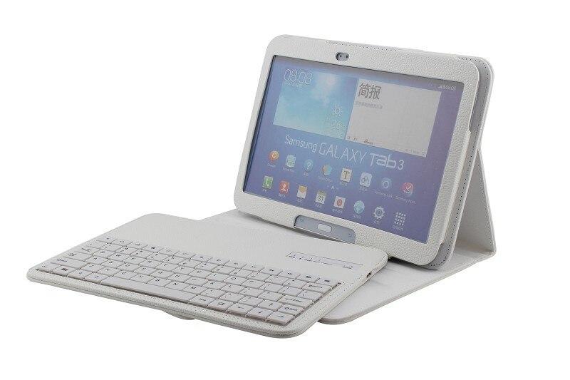Étui pour clavier bluetooth sans fil amovible pour Samsung Galaxy Tab 3 10.1 P5200 P5210 P5220 étui socle en cuir pour tablette