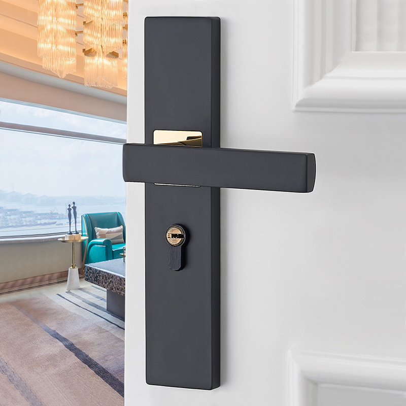 aluminum-alloy-door-locks-continental-bedroom-minimalist-interior-door-handle-lock-cylinder-security-mute-door-lock-household