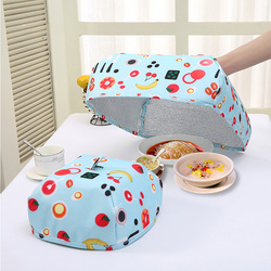 Cute Cartoon Kitchen Folded Food Cover Umbrella Hygiene Style Kitchen Food Dish Cover Kitchenware Outdoor Picnic Food Covers