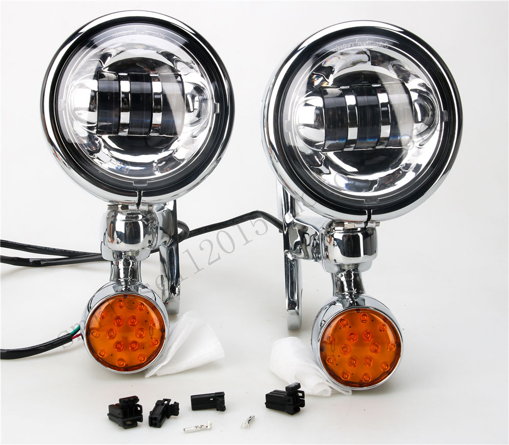 Držák na světla pro pomocná mlhovky pro jízdu na harleyských - Autosvětla