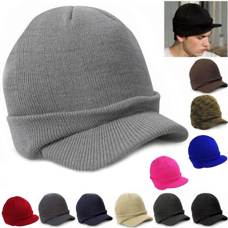 Forceful Men Women Winter Hat Ski Knit Baggy Oversize Slouchy Chic Visors Cap