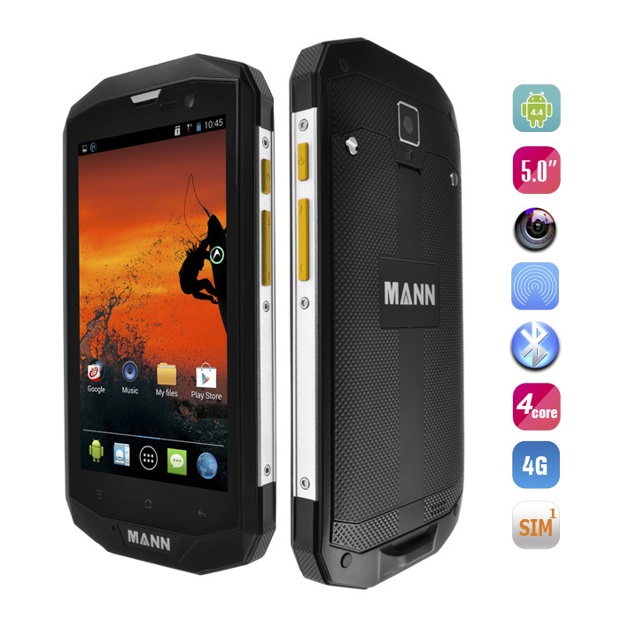 "Original MANN ZUG 5S 4G LTE IP67 Waterproof Phone Qualcomm Quad Core 1G RAM 8G ROM Android 4.4 5.0"" HD Screen 4050mAh Battery"