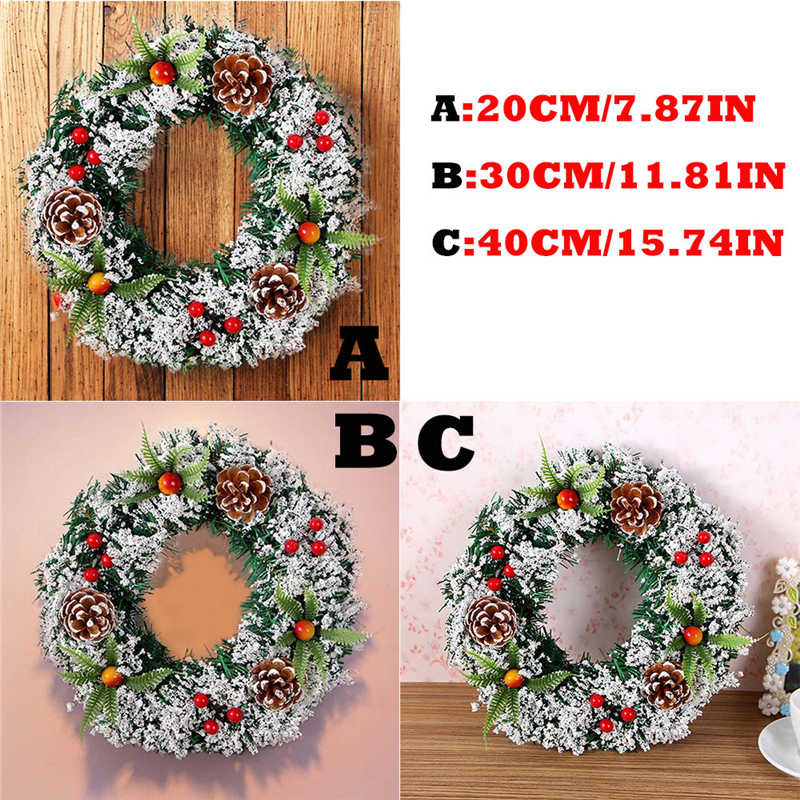 2018 handmade Wall Hanging Christmas Wreath Decoration For Xmas Party Door Garland Ornament Perfect window decoration #2n7 (10)
