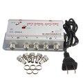 1 conjunto padrão AC 220 V 50 Hz 4-Way CATV amplificador de sinal AMP Video Booster Splitter adaptador de TV a cabo universal ferramentas Pro Plug eua