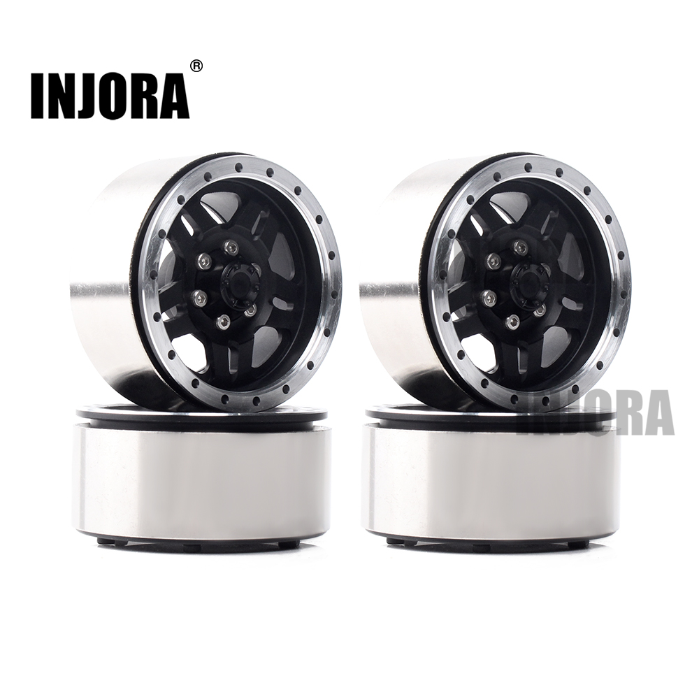 INJORA Heavier Metal Alloy 1.9 Inch Beadlock Wheel Rim for 1:10 RC Crawler Axial SCX10 & SCX10 II 90046 90047 D90 TF2INJORA Heavier Metal Alloy 1.9 Inch Beadlock Wheel Rim for 1:10 RC Crawler Axial SCX10 & SCX10 II 90046 90047 D90 TF2