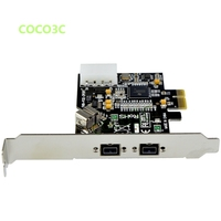 2 + 1 ports 1394B PCI e card External Firewire 800 IEEE 3 Ports 1394 b PCI express PCIe to digital camera 1394B to 1394A Cable