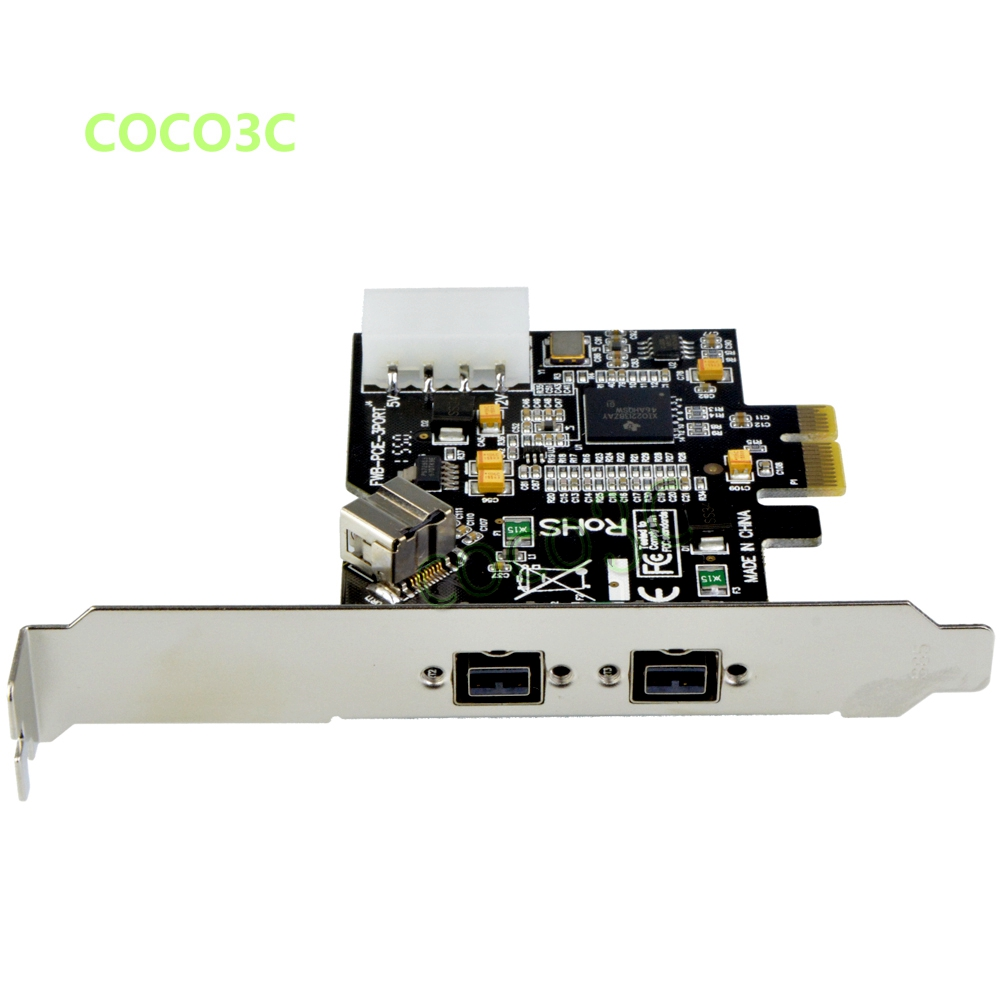 2 + 1 ports <font><b>1394B</b></font> PCI-e card External Firewire 800 <font><b>IEEE</b></font> 3 Ports 1394 b PCI express PCIe to digital camera <font><b>1394B</b></font> to 1394A Cable image